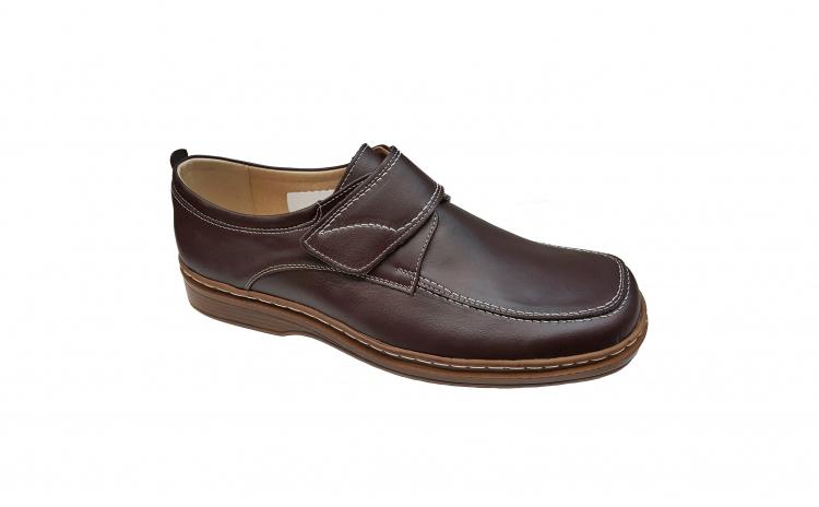 Pantofi lati din piele naturala cu scai