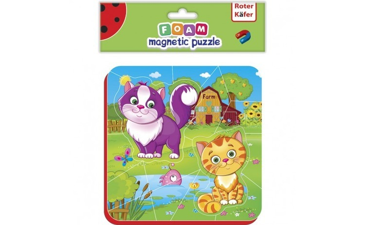 Puzzle magnetic Pisicute Roter Kafer
