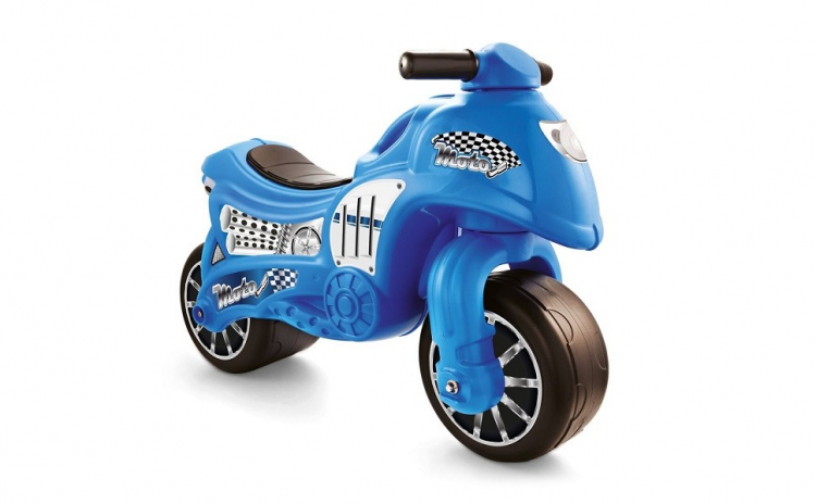 Motocicleta fara pedale, albastru