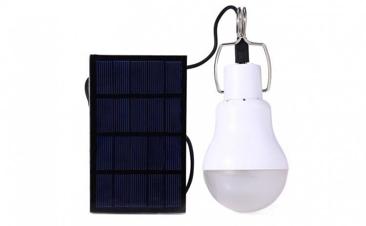 Bec 20W cu 33 leduri portabil solar