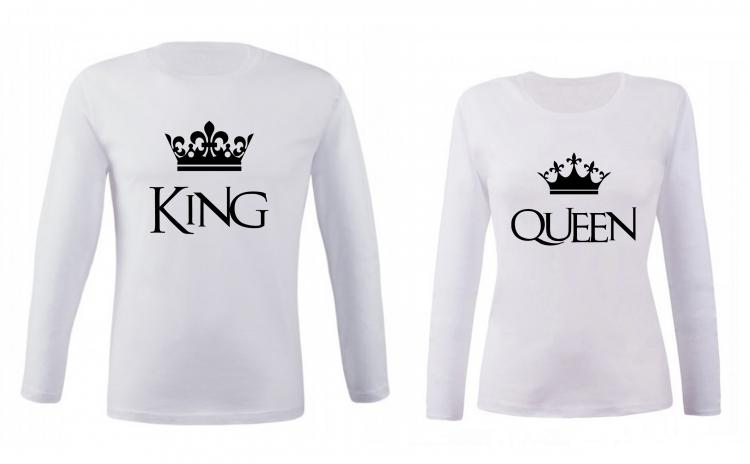 Set de bluze pentru cupluri King/ Queen