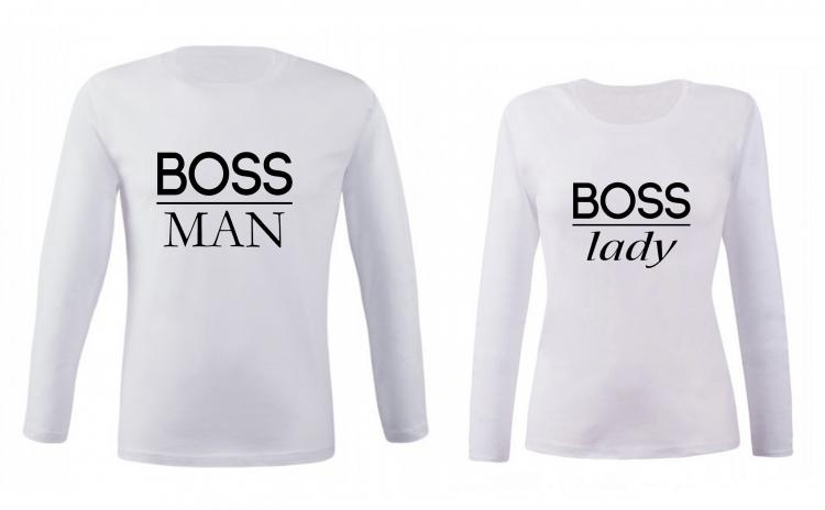 Set de bluze pentru cupluri Boss Man/ Lady