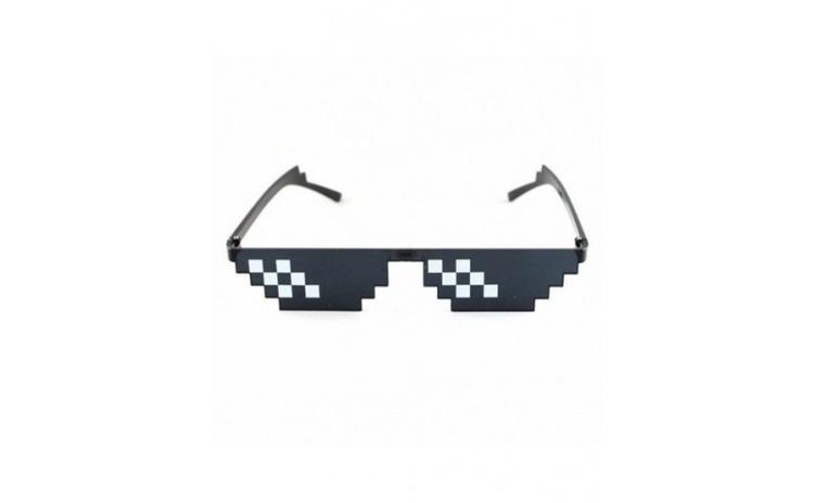 Ochelari de soare Thug Life, pixelati,
