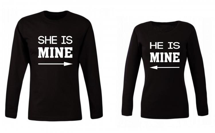 Set de bluze pentru cupluri He/ She is Mine