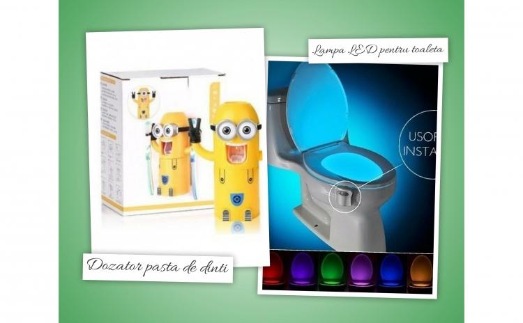 Dozator pasta de dinti + lampa toaleta