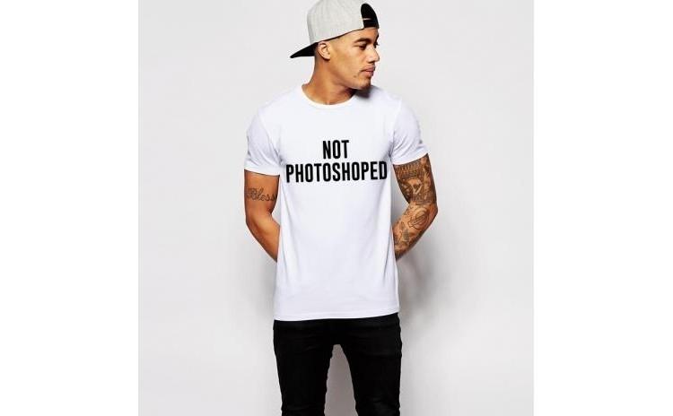 Tricou alb barbati - Not Photoshoped la doar 65 RON in loc de 130 RON