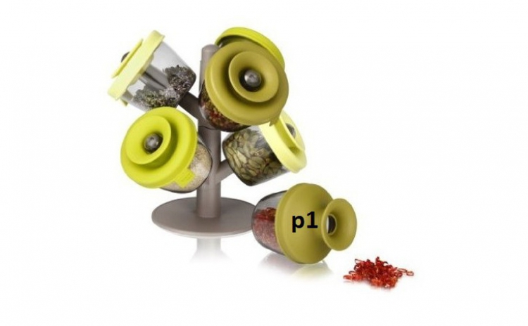 Set 6 Recipiente Pentru Condimente  Pop-up Spice Rack  La Doar 35 Ron In Loc De 78 Ron