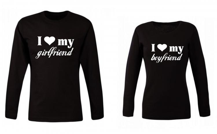 Set de bluze pentru cupluri Girlfriend Boyfriend