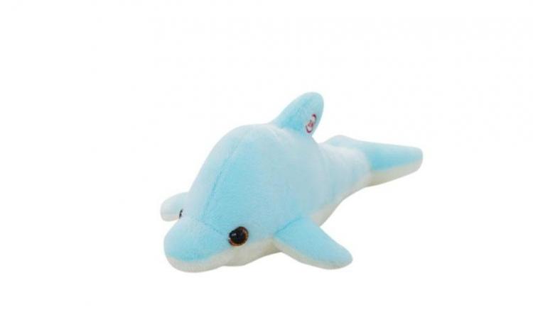 Jucarie de plus delfin,albastru