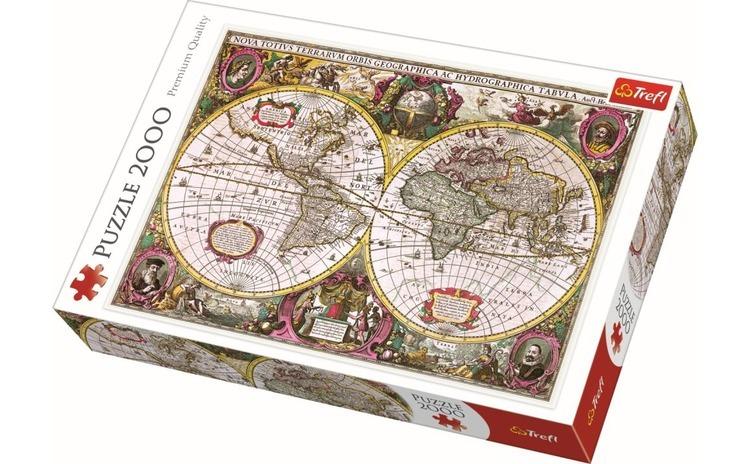 Puzzle trefl 2000 harta noua a
