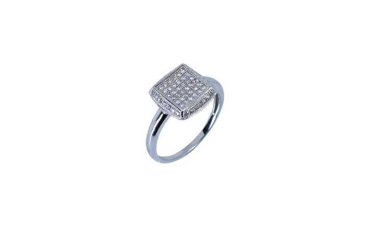 Inel de Dama Argint 925 cu Model Patrat