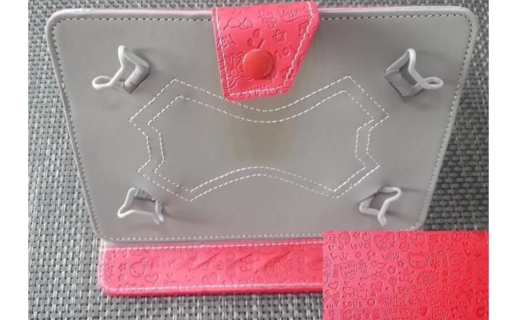 Imagine indisponibila pentru Husa tableta 8 inch model X , Rosu cu model , tip mapa, protectie antisoc