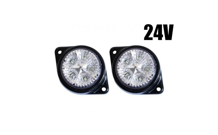 14 x 67 Lampa LED 24V Alba