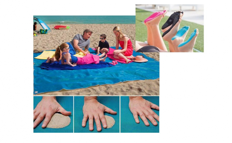 Plasa plaja anti nisip + talpici cadou!