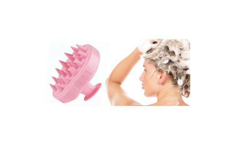 Image of Perie anti-matreata, pentru masaj scalp si stimularea cresterii parului , EGGO Skin, din silicon, pentru toate tipurile de par, pentru copii, femei, barbati, animale, Roz / Flamingo Pink