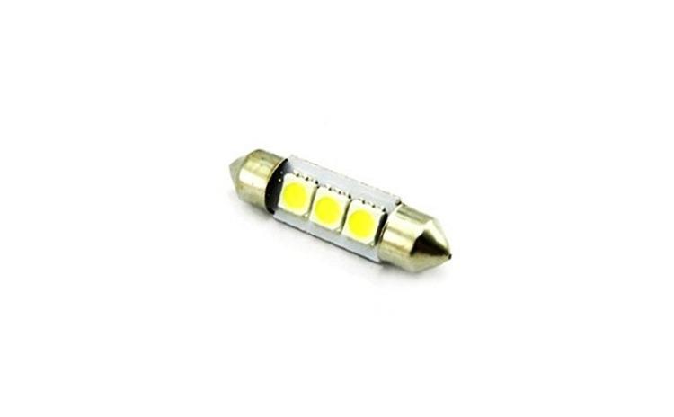 Imagine indisponibila pentru Bec sofit 3 led SMD led-uri, 12V lumina albastra (11x39mm) (set 2 buc.)