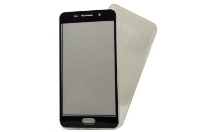 Husa Samsung A5 2017 Flippy Full Tpu 360 V2 Transparent cu margini negre