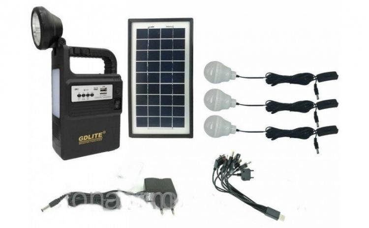 Kit fotovoltaic 3 becuri cu panou solar