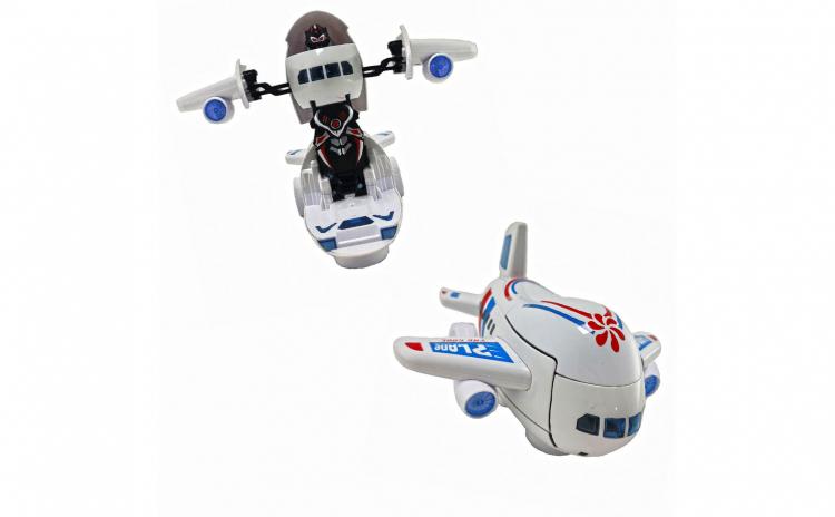 Avion Transformer 25 cm cu lumini sunete