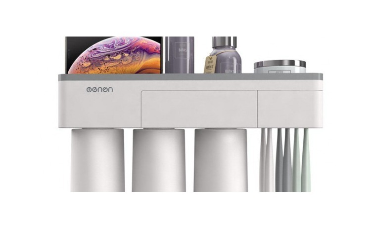 Suport 3 pahare magnetice si dispenser