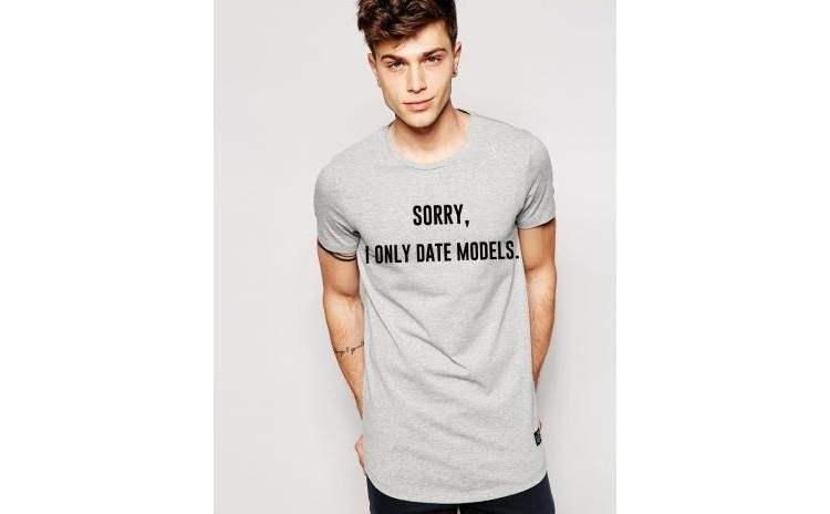 Tricou gri barbati - Sorry, i only date models la doar 65 RON in loc de 130 RON