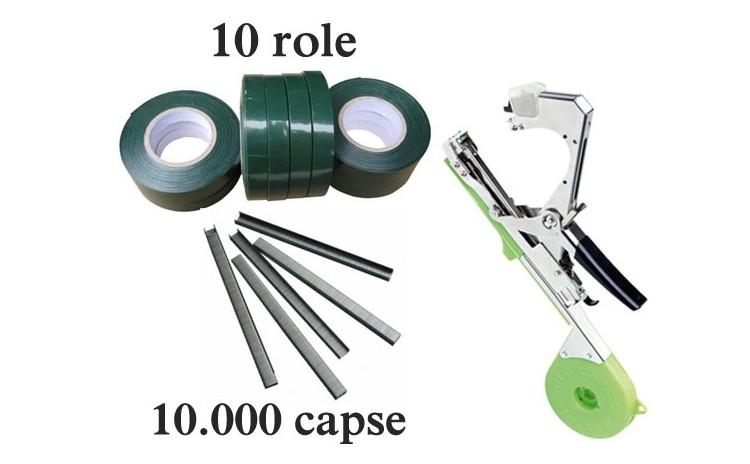 Set consumabile-10 role + 10.000 capse pentru aparat legat vita de vie si legume, la numai 45 RON re