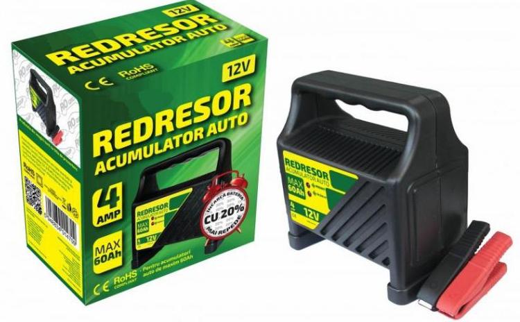 Redresor Pentru Acumulator Auto 12v Maxim 60ah La Doar 99 Ron In Loc De 199 Ron