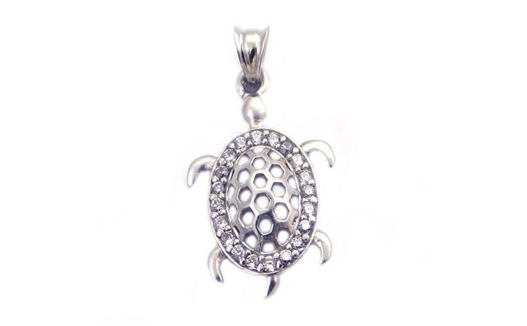 Pandantiv Testoasa cu Pietre, Argint