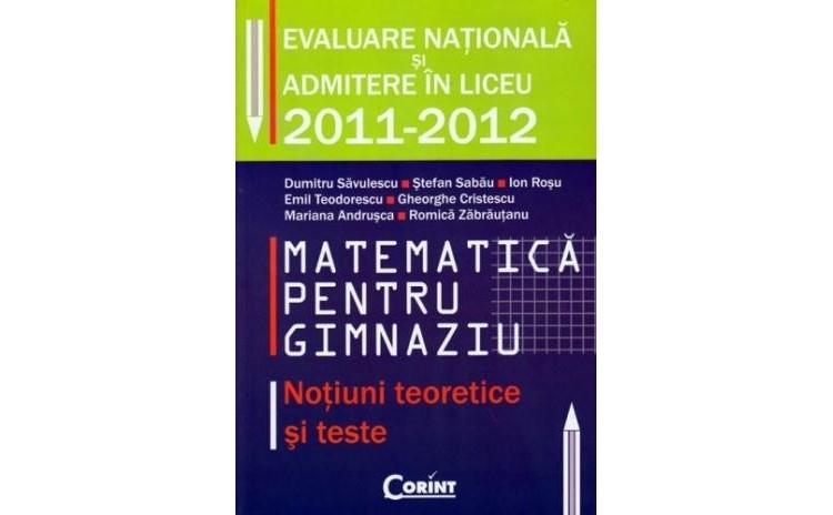 Matematica pentru gimnaziu, autor Dumitru Savulescu