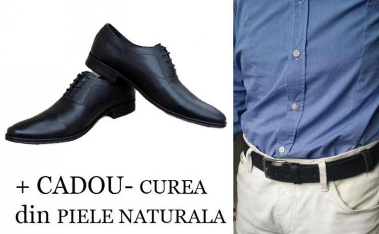 Pantofi+curea piele naturala