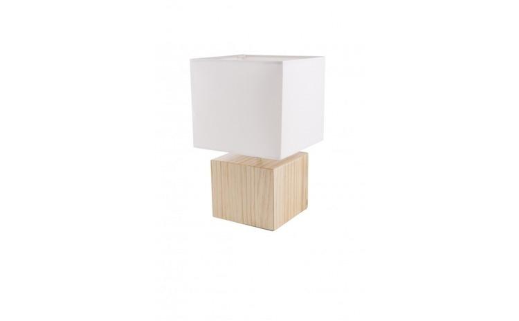 Veioza Moderna Cub, Dulie E14, Culoare Imitatie Lemn VTN-VO0804