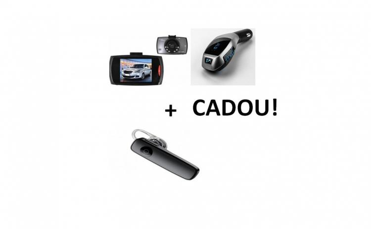 Camera auto+modulator fm+casca bluetooth
