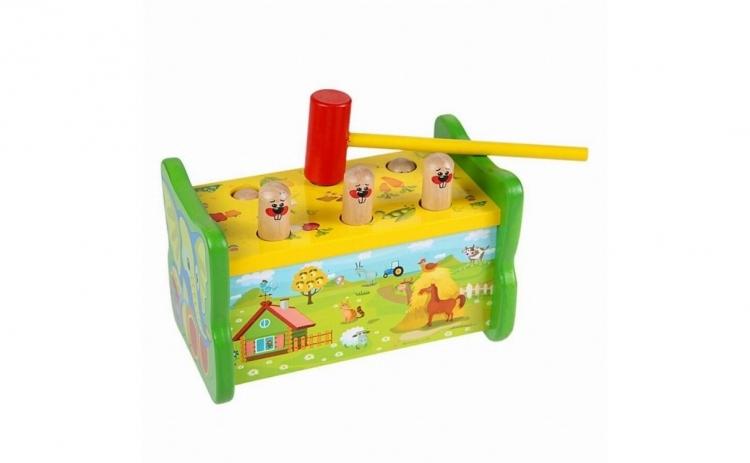Joc din lemn banc de lucru cu Ciocanel