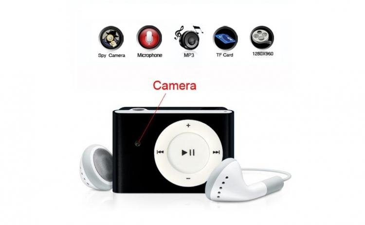MP3 cu Camera Spion, Autonomie 160 de minute, HD + card 16GB Cadou
