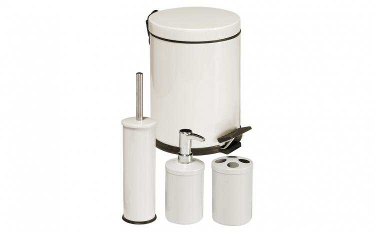Set accesorii pentru baie 4 piese crem