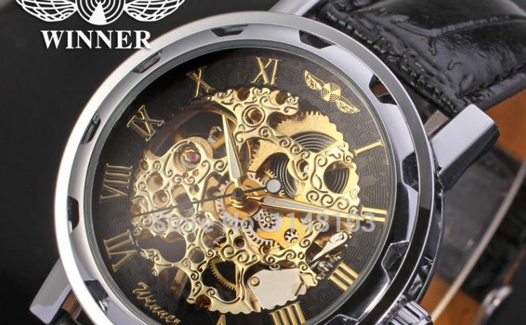 Ceas Mecanic Barbati Winner Imperial Exclusive Design 6 Culori, La Doar 105 Ron In Loc De 220 Ron