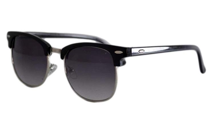 Ochelari de soare Retro Negru inchis -