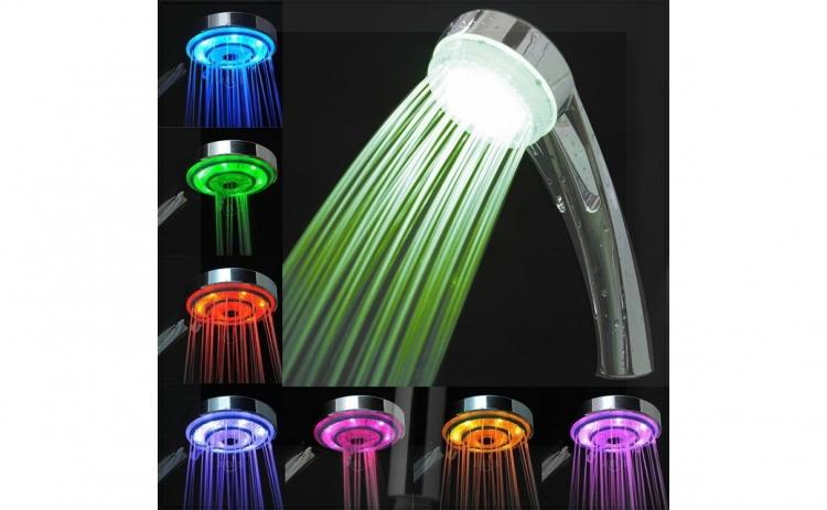 Imagine indisponibila pentru Pachet para de dus cu LED termosensibil + cap pentru robinet cu LED
