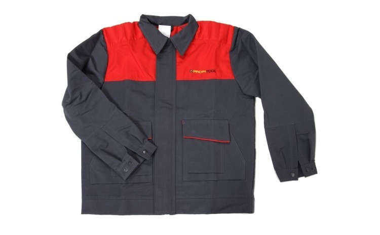Bluza mecanic marimea L negru rosu