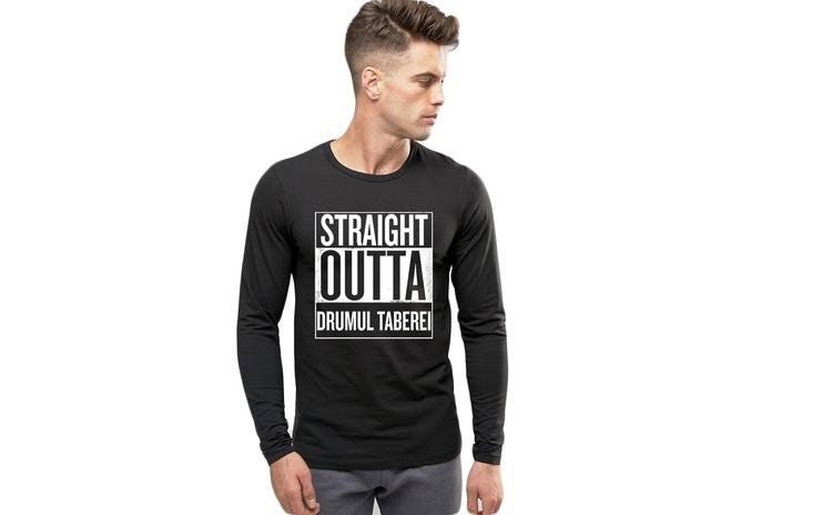 Bluza barbati neagra - Straight Outta Drumul Taberei