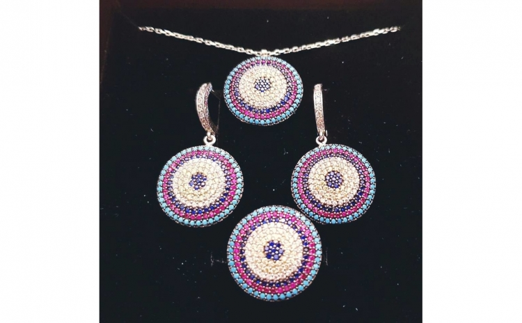 Set din Argint cu Zirconii roz