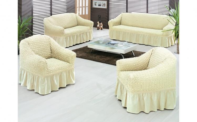 Set de huse pentru canapea de 3 locuri + 2 huse pentru fotoliu (3-1-1)