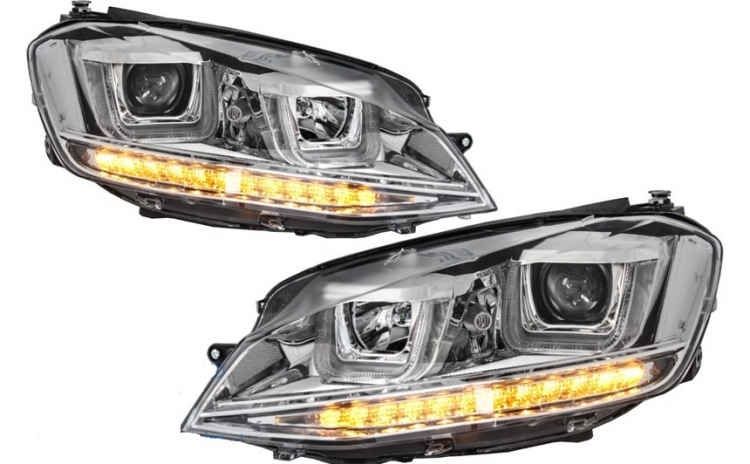 Set 2 faruri 3D LED compatibil cu VW