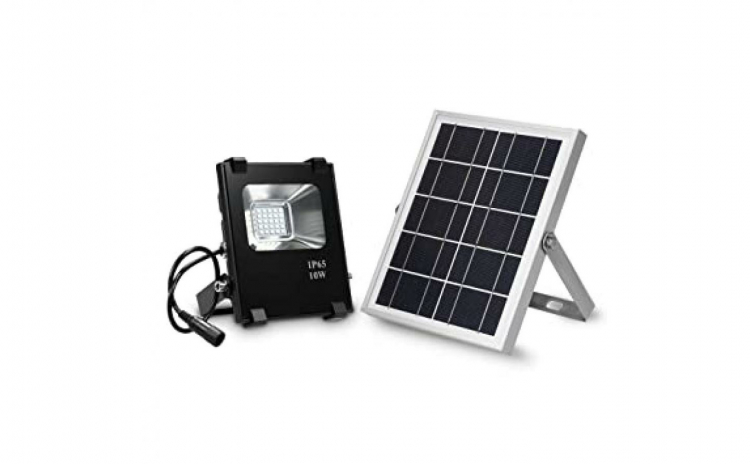 Reflector LED cu panou solar