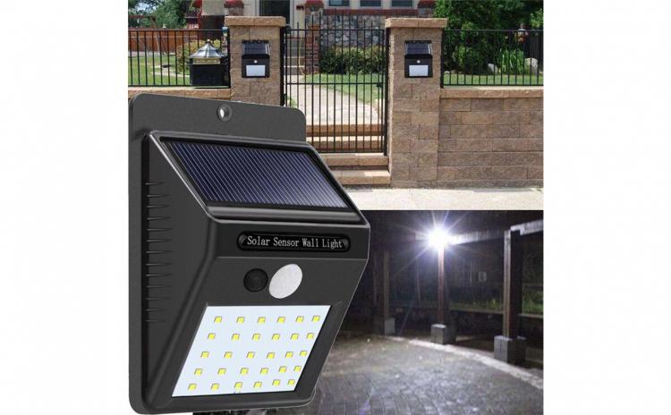 Set lampi solare cu leduri si senzor