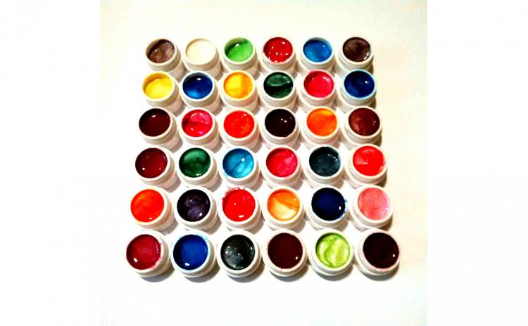 Set 36 geluri colorate unghii false