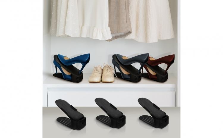 Set 10 x Organizator pantofi - negru