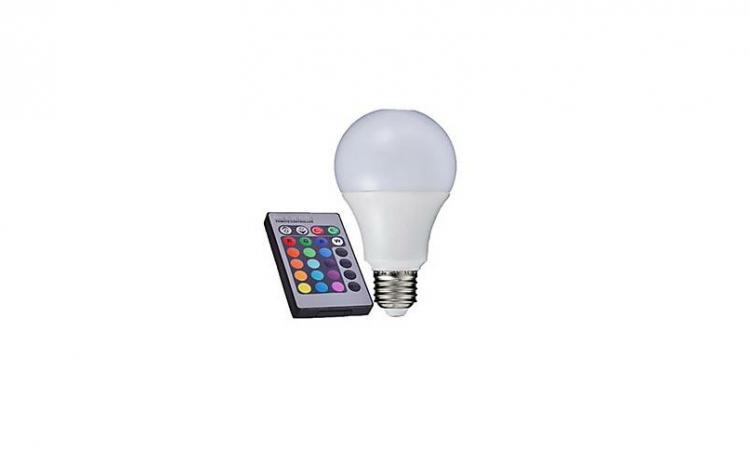 Bec cu LED RGB, 16 culori