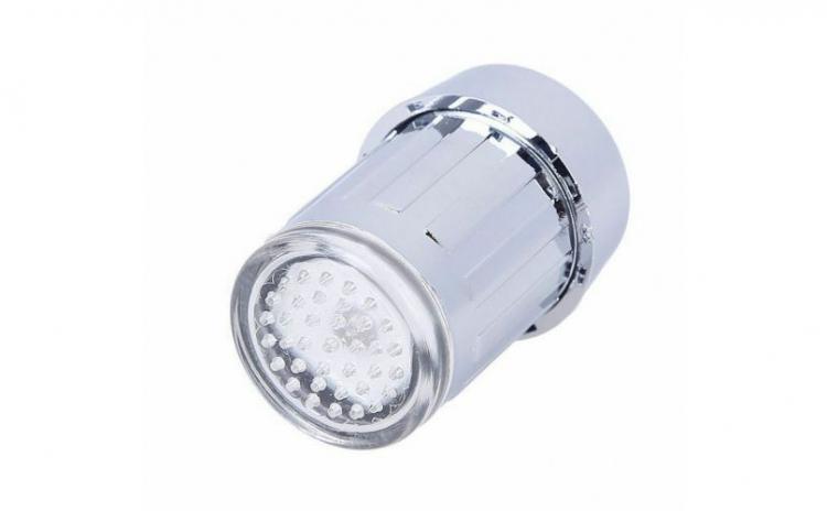 Cap robinet cu LED multicolor