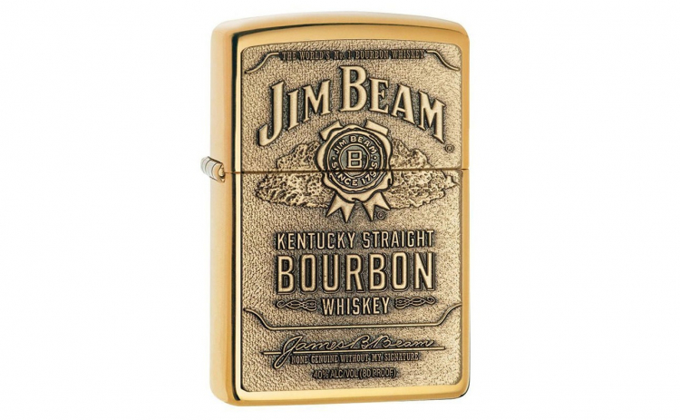 Zippo High Polish Solid Brass Jim Beam